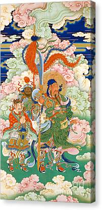 Emperor Guan, Hanging Scroll Canvas Print by Chinese School