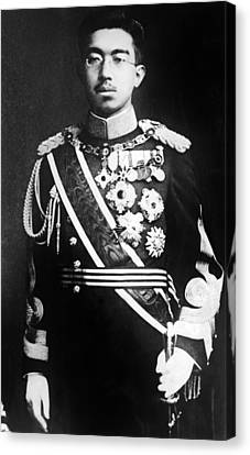 Emperor Hirohito, Of Japan, Portrait Canvas Print by Everett