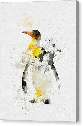 Emperor Penguin Canvas Print by Rebecca Jenkins