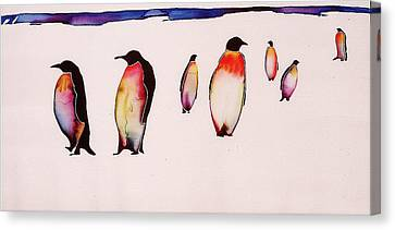 Emperors On Ice Canvas Print by Carolyn Doe