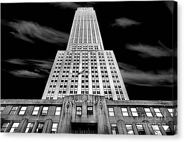 Famous Buildings Canvas Print - Empire State   by Az Jackson