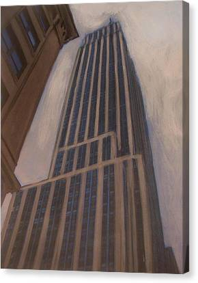 Empire State Building 1 Canvas Print by Anita Burgermeister