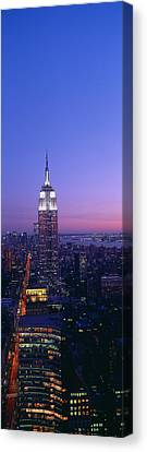 Empire State Building At Sunset, View Canvas Print by Panoramic Images