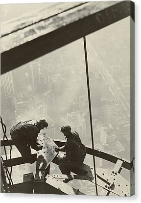 Empire State Building Canvas Print by Lewis Wickes Hine