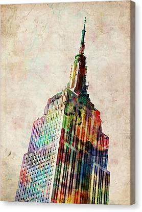 Architecture Canvas Print - Empire State Building by Michael Tompsett