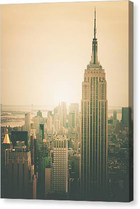 Empire State Building - New York City Canvas Print by Vivienne Gucwa