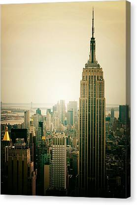 Empire State Building New York Cityscape Canvas Print by Vivienne Gucwa