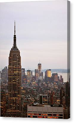 Empire State Building No.2 Canvas Print by Zawhaus Photography