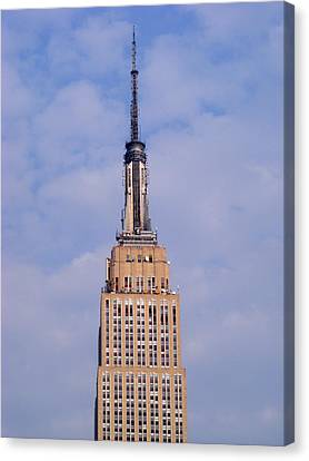 Canvas Print featuring the photograph Empire State Building Observatory by Margie Avellino
