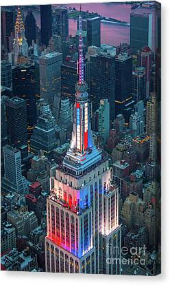 Empire State From Above Canvas Print by Inge Johnsson