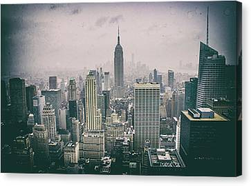 Empire State Nyc Canvas Print by Martin Newman