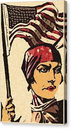 Employ American Buy American Canvas Print by Jennifer Ott