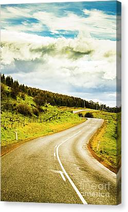 Empty Asphalt Road In Countryside Canvas Print