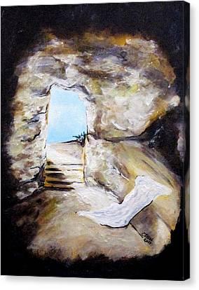 Empty Burial Tomb Canvas Print