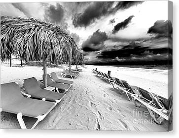 Empty Chairs Canvas Print - Empty Chairs by John Rizzuto