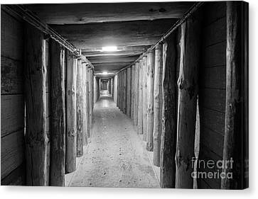 Canvas Print featuring the photograph Empty Corridor by Juli Scalzi