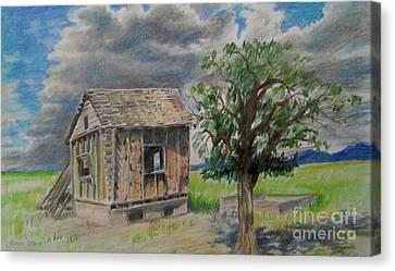 Empty Homestead  Canvas Print by Jeanette Skeem