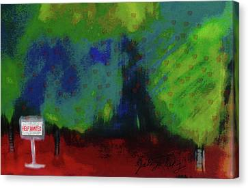 Empty Orchard Canvas Print
