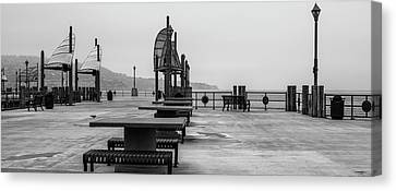 Canvas Print featuring the photograph Empty Pier by Michael Hope