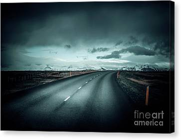 Empty Road Canvas Print by Svetlana Sewell
