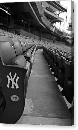Baseball Canvas Print - Empty Stadium by Michael Albright