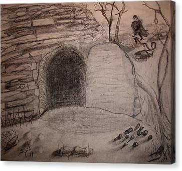 Empty Tomb Canvas Print by Spencer  Joyner