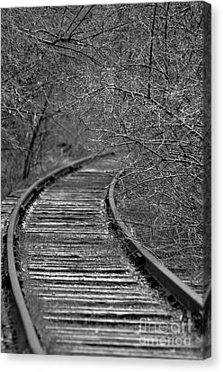 Canvas Print featuring the photograph Empty Tracks by Juls Adams