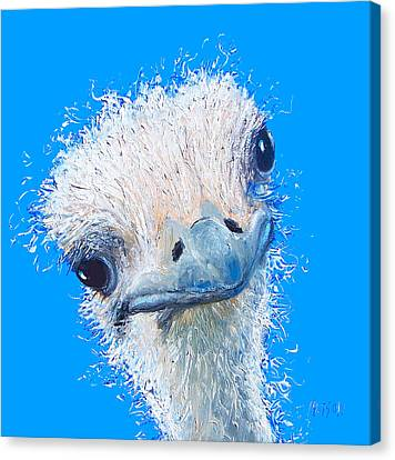 Emu Painting Canvas Print by Jan Matson
