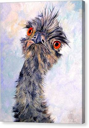 Emu Twister Canvas Print