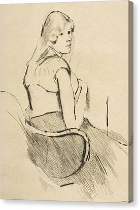 En Deshabille Canvas Print by Mary Cassatt