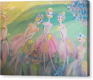 En Plein Air Ballet Canvas Print by Judith Desrosiers