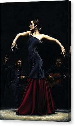 Encantado Por Flamenco Canvas Print by Richard Young