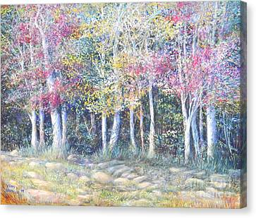 Enchanced Tree Pageant Canvas Print by Penny Neimiller
