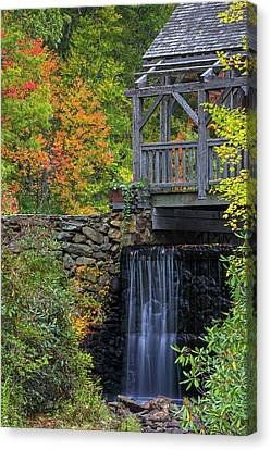 Canvas Print featuring the photograph Enchanta Bridge In Moore State Park by Juergen Roth