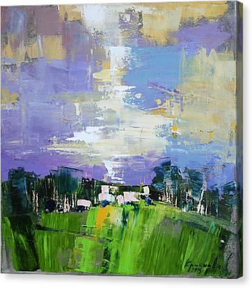 Canvas Print featuring the painting Enchanted  by Anastasija Kraineva