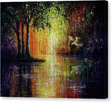 Enchanted Forest Canvas Print by Ann Marie Bone