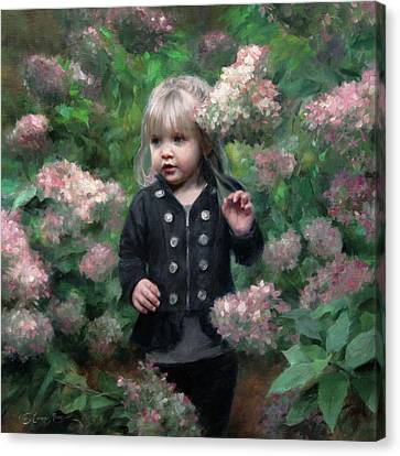Enchanted Blossoms Canvas Print by Anna Rose Bain