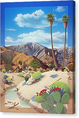 Enchanted Desert Canvas Print by Snake Jagger