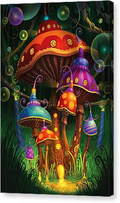 Mushroom Canvas Print - Enchanted Evening by Philip Straub