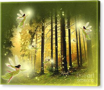 Canvas Print featuring the digital art Enchanted Forest - Fantasy Art By Giada Rossi by Giada Rossi