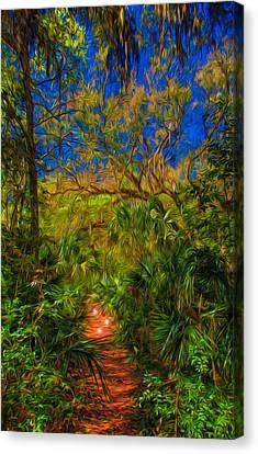 Fairies Canvas Print - Enchanted Forest by John M Bailey