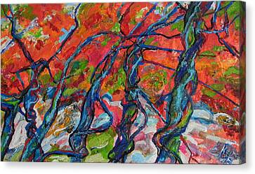 Canvas Print featuring the painting Enchanted Forest by Koro Arandia