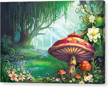 Mushroom Canvas Print - Enchanted Forest by Philip Straub
