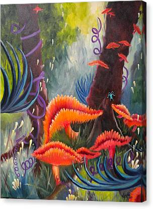 Canvas Print featuring the painting Enchanted Forest by Renate Nadi Wesley