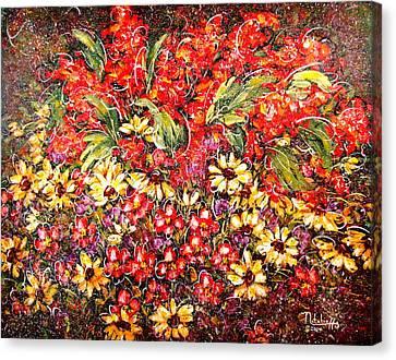 Enchanted Garden Canvas Print by Natalie Holland