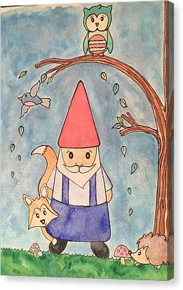 Enchanted Gnome Forest Canvas Print by Kristi Rinier