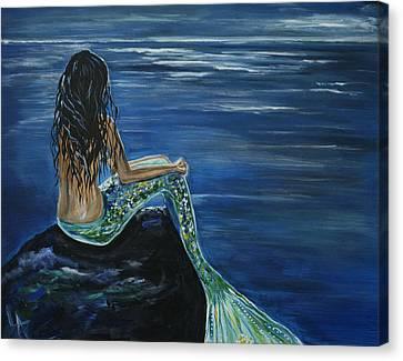 Enchanted Mermaid Canvas Print by Leslie Allen