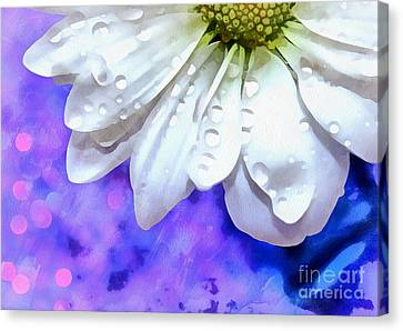 Floral Digital Art Canvas Print - Enchanted Miracles by Krissy Katsimbras