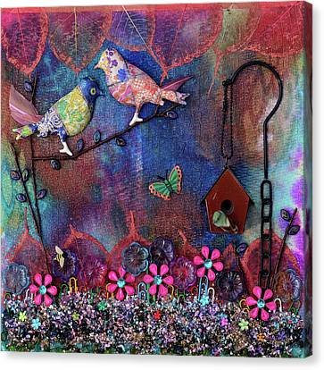 Enchanted Patchwork Canvas Print by Donna Blackhall