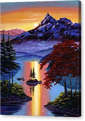 Enchanted Reflections Canvas Print by David Lloyd Glover